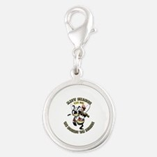 Navy SeaBee - Construction Silver Round Charm