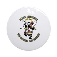 Navy SeaBee - Construction Ornament (Round)