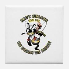 Navy SeaBee - Construction Tile Coaster