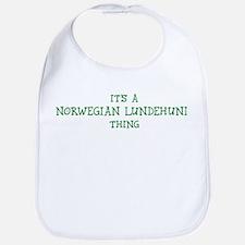 Norwegian Lundehund thing Bib