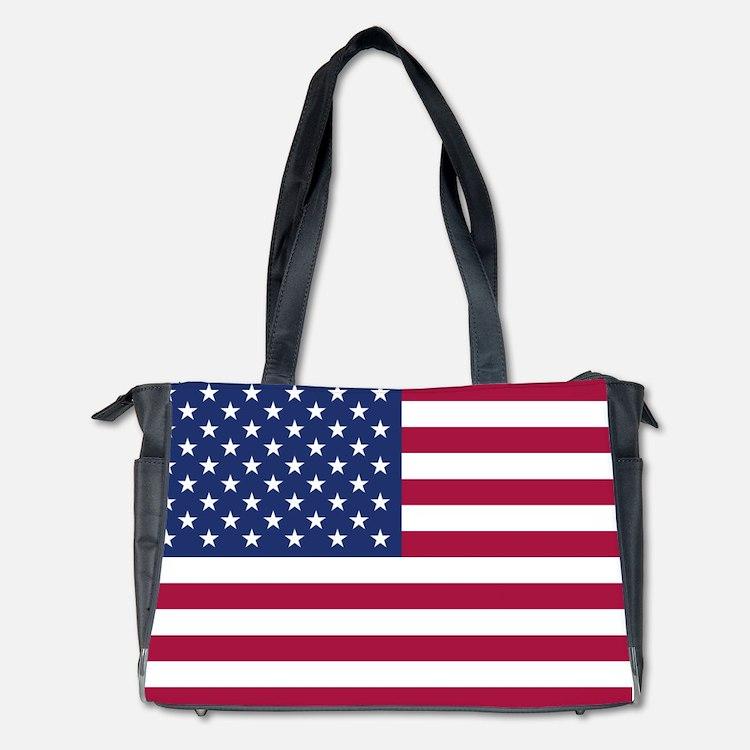 American Flag Diaper Bag