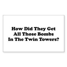 WTC Bombs Rectangle Decal