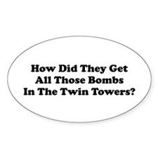WTC Bombs Oval Decal