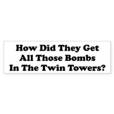 WTC Bombs Bumper Bumper Sticker