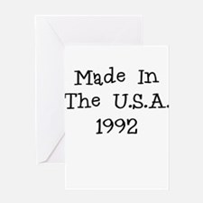 Made in the usa 1992 Greeting Card