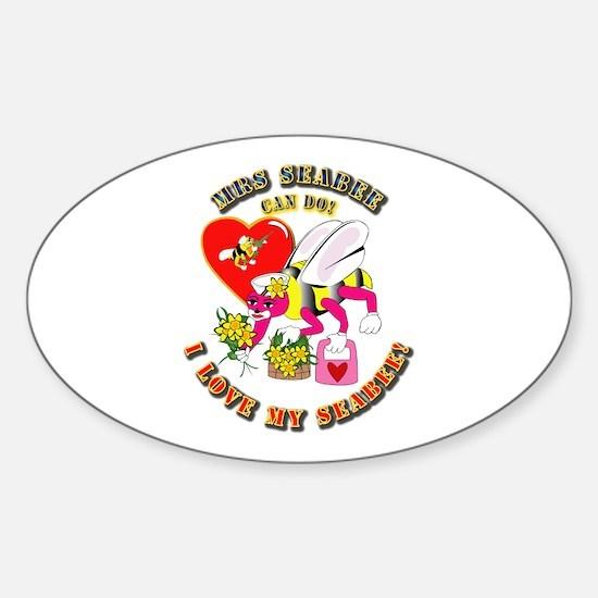 Navy SeaBee - Mrs SeaBee Sticker (Oval)