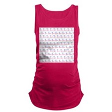 Pink Whales Pattern. Maternity Tank Top