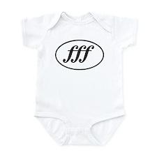 Fortissimo Loud fff Musician Infant Bodysuit