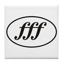 Fortissimo Loud fff Musician Tile Coaster