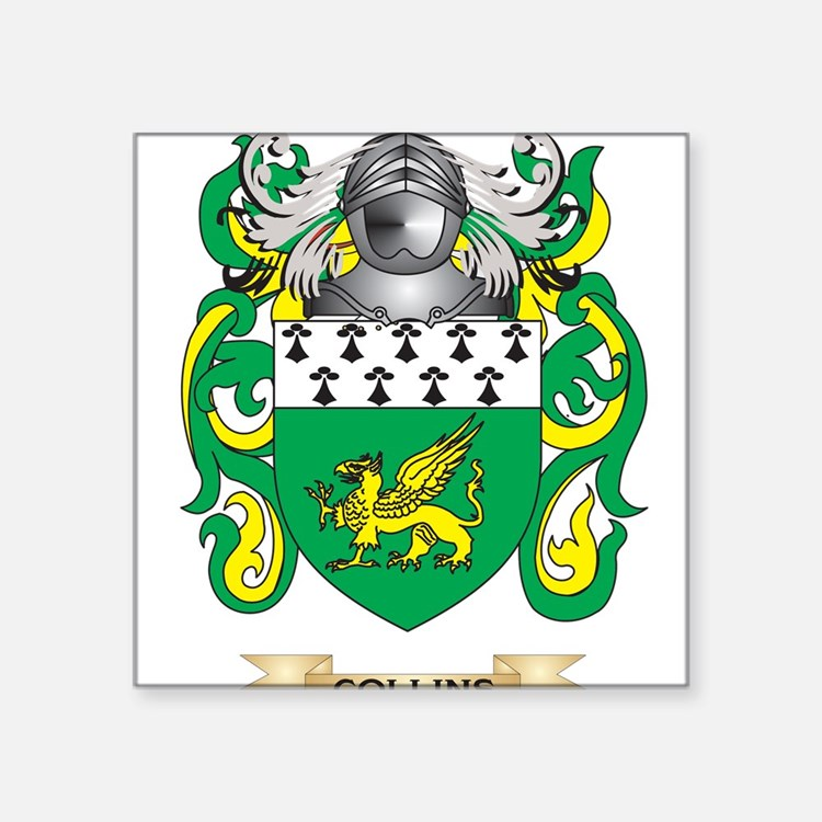 Collins Coat of Arms Sticker