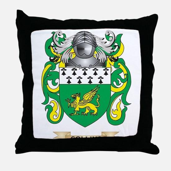 Collins Coat of Arms Throw Pillow