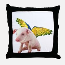 Pigs Fly Throw Pillow