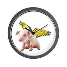 Pigs Fly Wall Clock