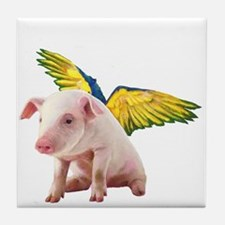 Pigs Fly Tile Coaster