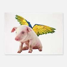Pigs Fly 5'x7'Area Rug