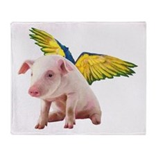 Pigs Fly Throw Blanket