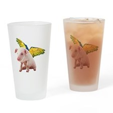 Pigs Fly Drinking Glass