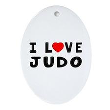 I Love Judo Ornament (Oval)