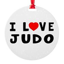 I Love Judo Round Ornament