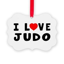 I Love Judo Picture Ornament