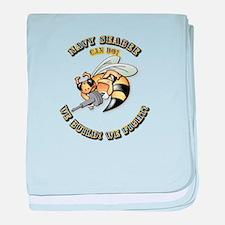 New Navy SeaBee baby blanket