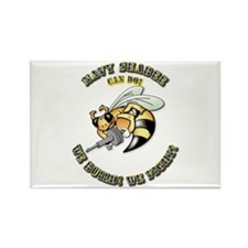 New Navy SeaBee Rectangle Magnet