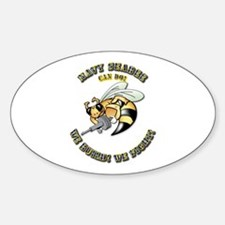 New Navy SeaBee Sticker (Oval)