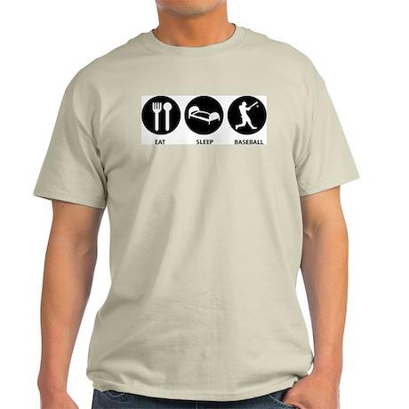 Eat Sleep Baseball Ash Grey T-Shirt