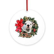 Bulldog Keepsake/Ornament (Round)