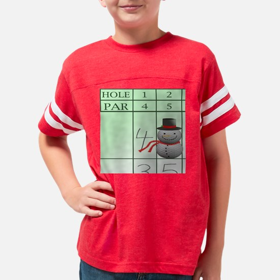6x6snowman8 Youth Football Shirt