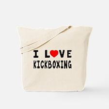 I Love Kickboxing Tote Bag