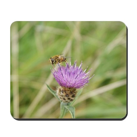 Bee on Flower Mousepad