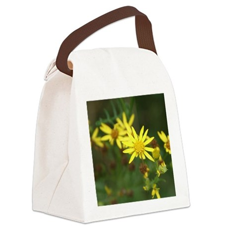 Yellow Flowers Canvas Lunch Bag