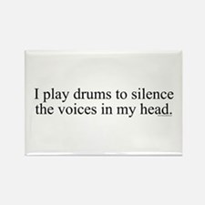 I play Drums to silence the v Rectangle Magnet