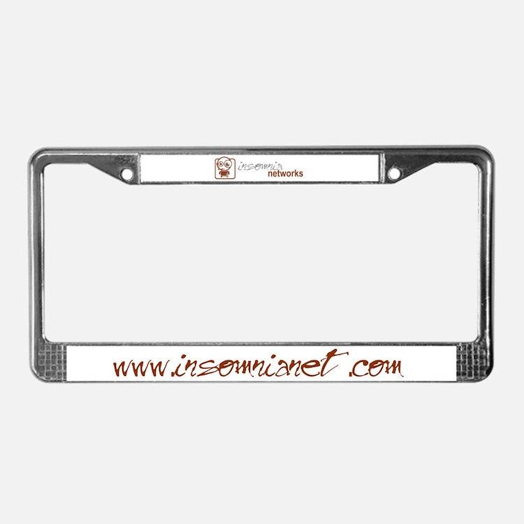 Insomnia Networks License Plate Frame