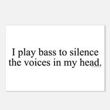 I play bass to silence the vo Postcards (Package o
