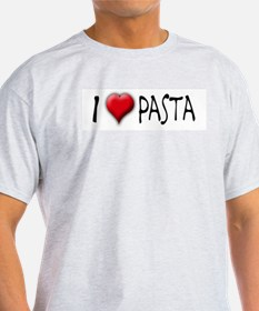I Love (Heart) Pasta Ash Grey T-Shirt
