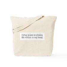 I play piano to silence the v Tote Bag