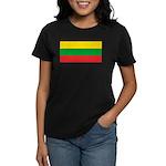 Lithuania Lithuanian Flag Women's Black T-Shirt
