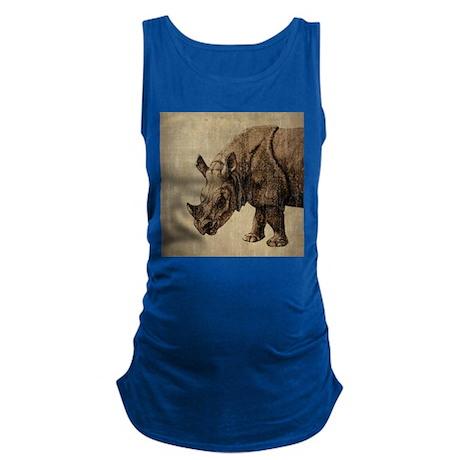 Vintage Rhinoceros Maternity Tank Top