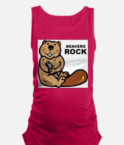 Beavers Rock Maternity Tank Top