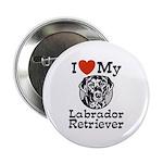 I Love My Labrador Retriever Button