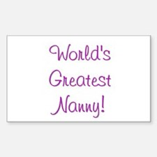 World's Greatest Nanny! Rectangle Decal