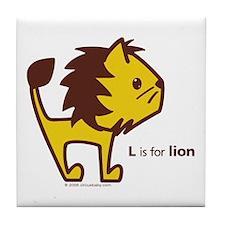 L is for Lion Tile Coaster