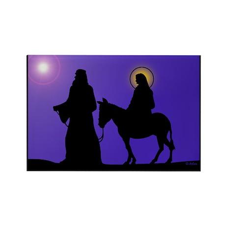 Mary & Joseph Rectangle Magnet (100 pack)