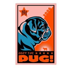 Year of the PUG! Postcards (Pack of 8)