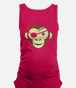 Pirate Monkey Maternity Tank Top