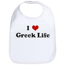 I Love Greek Life Bib
