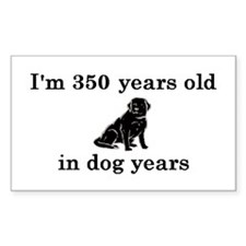 50 birthday dog years lab 2 Decal