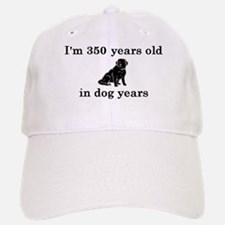 50 birthday dog years lab 2 Baseball Baseball Baseball Cap